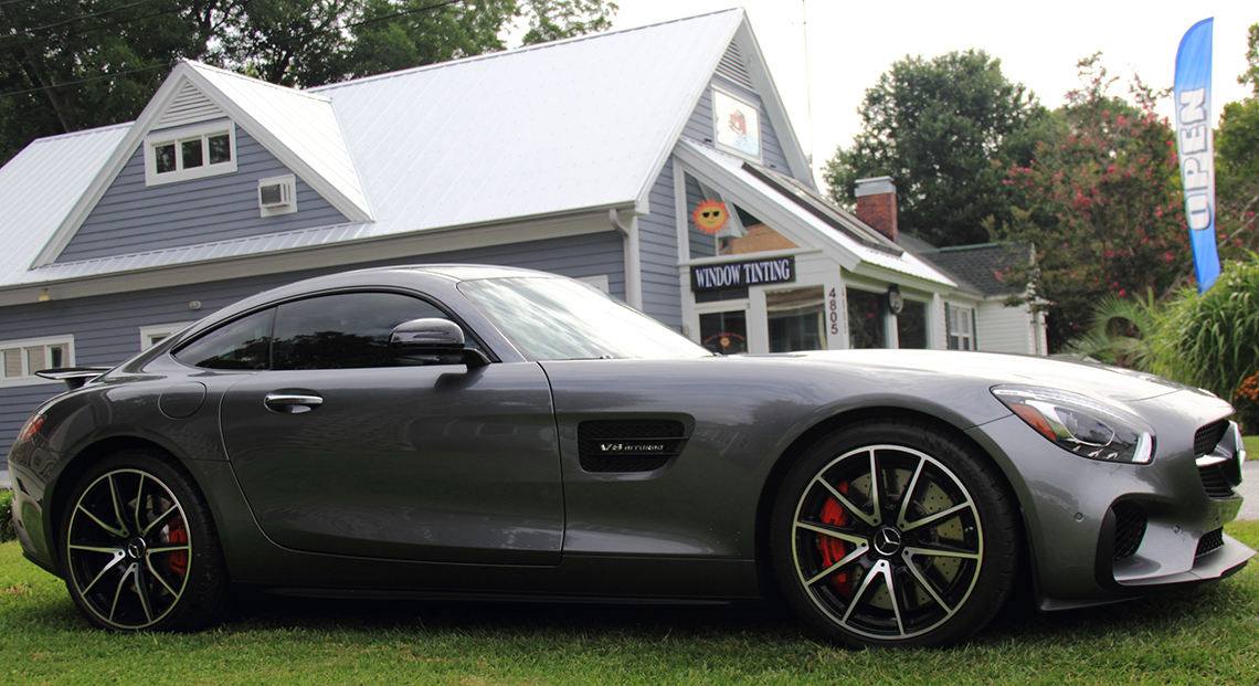 Auto window tinting results mercedes benz amg gt coastal for Mercedes benz window tint